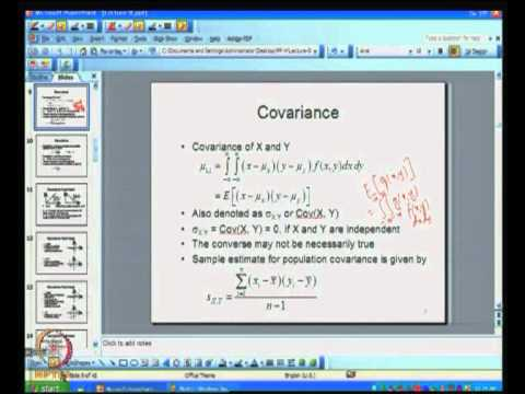 Mod-03 Lec-08 Covariance and Correlation
