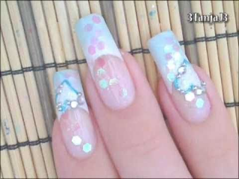 Wedding #2: *Something Blue* - Simple French Tip Nail Art Design Tutorial