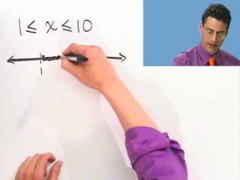 Inequalities and Interval Notation, Part 1 of 2, from Thinkwell's College Algebra