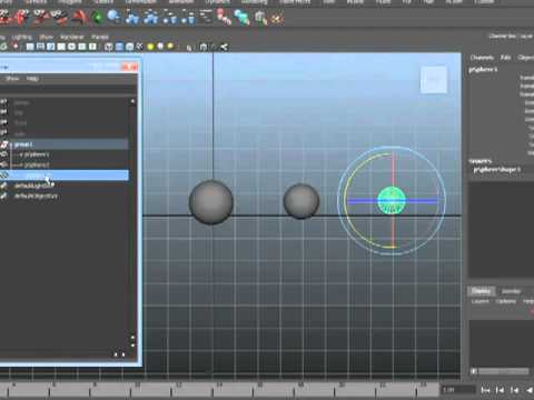 Maya 2012 Tutorial -  Grouping and Parenting