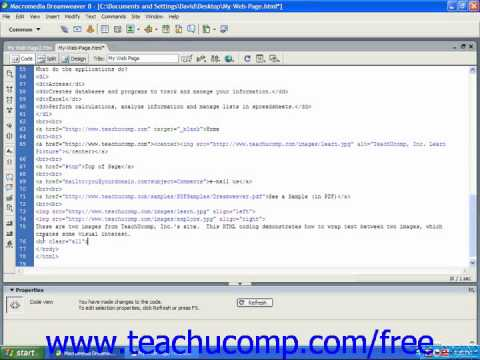 HTML Tutorial Stopping Text Wrapping Training Lesson 8.10