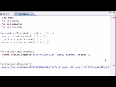 Java Programming Tutorial - 37 - Display Regular time