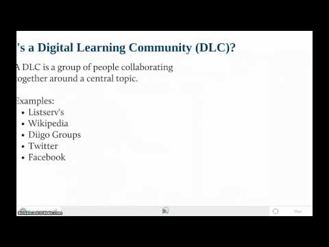 Digital Learning Community and Personal Learning Network