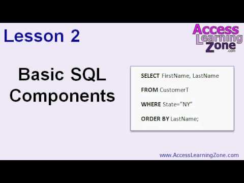 Microsoft Access SQL Seminar Part 1
