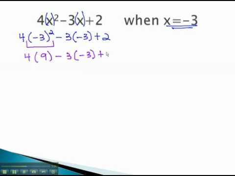Simplify Algebraic Expressions - Evaluate - YouTube.mp4
