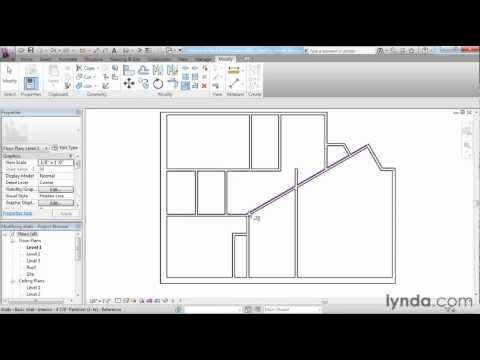Revit Architecture: How to use the modification tools | lynda.com tutorial
