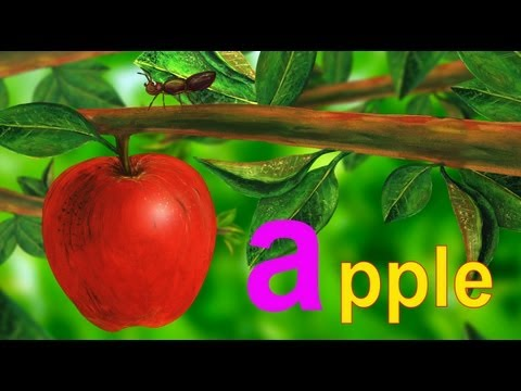 "Ant Apple - Lower Case Alphabet ""A"" - HD Version"