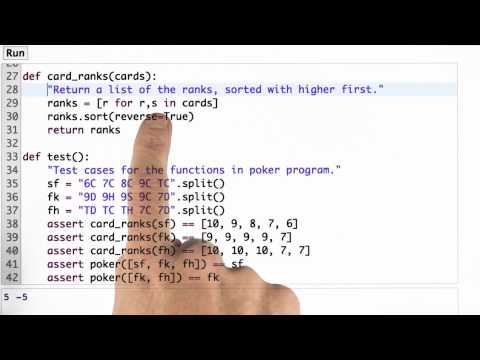 Fixing Card Rank - CS212 Unit 1 - Udacity