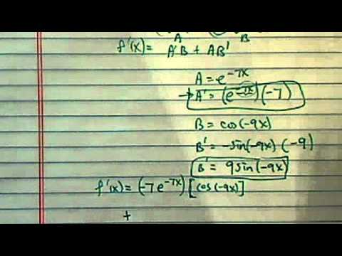 how to find derivative using product rule and chain rule