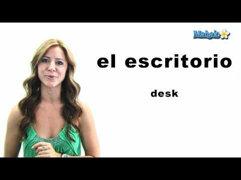 "How to Say ""Desk"" in Spanish"