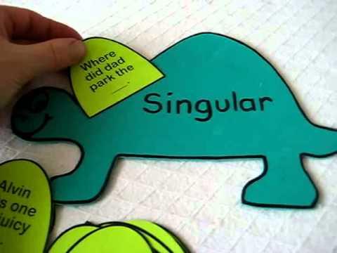 Grade 1 - Language. Singular Plural dinos