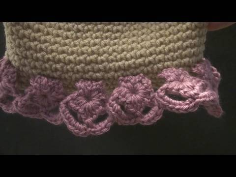 Crochet Geek - Crochet Flower Edging for Hat