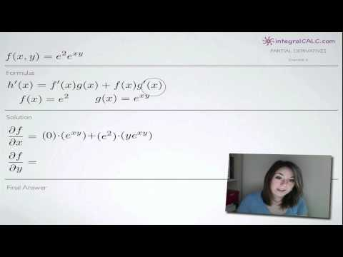 Partial Derivatives Example 6