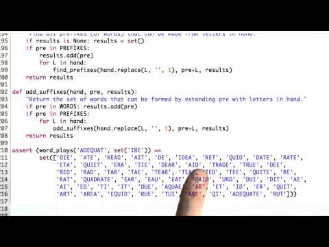 Longest Words - CS212 Unit 6 - Udacity