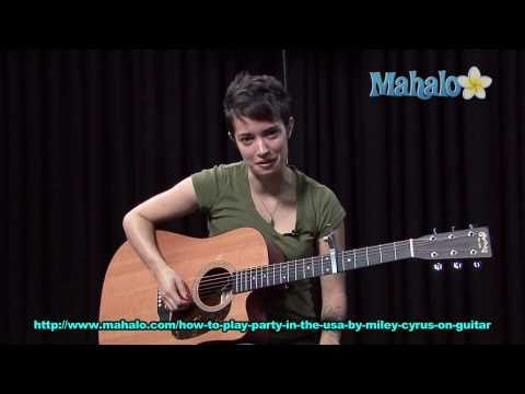 How to Play Party in The Usa by Miley Cyrus on Guitar