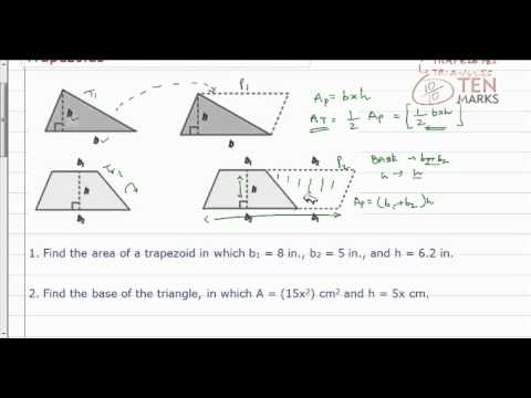 Find Measurements of Triangles and Trapezoids