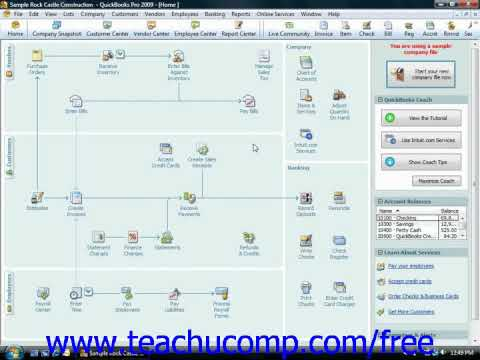 QuickBooks Tutorial Tracking Your Tax Liabilities Intuit Training Lesson 20.8
