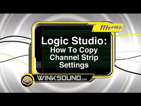 Logic Studio: How To Copy Channel Strip Settings