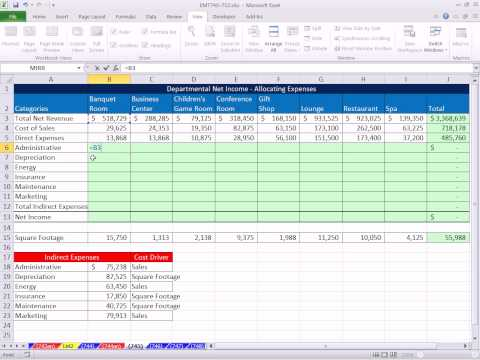 Excel Magic Trick 745: Allocating Indirect Expenses to Calculate Departmental Net Income Accounting