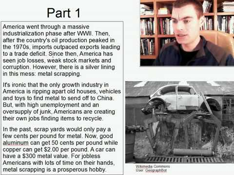 Advanced Listening English Practice 9: Americas scrap metal