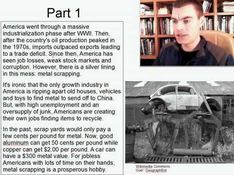 Advanced Listening English Practice 9: Americas scrap metal