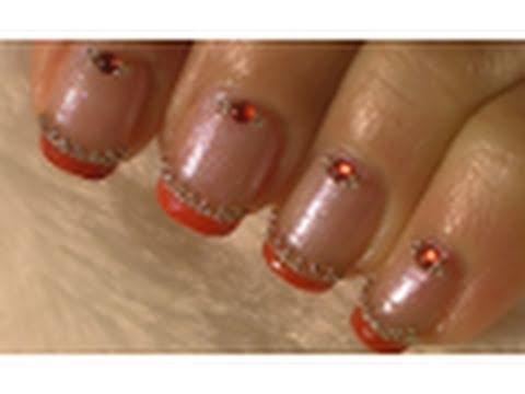 Simple Elegant Red Nail Art Tutorial / Arte para las uñas  diseño elegante en rojo
