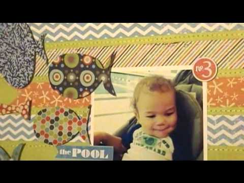 How to Add Stitching to Scrapbook Layouts