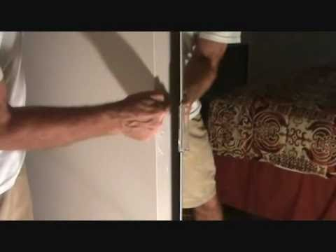How to prevent wall damage: at a sliding glass closet door