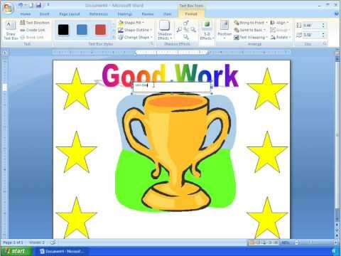 Word 2007 Tutorial 15 - Making a Simple Certificate