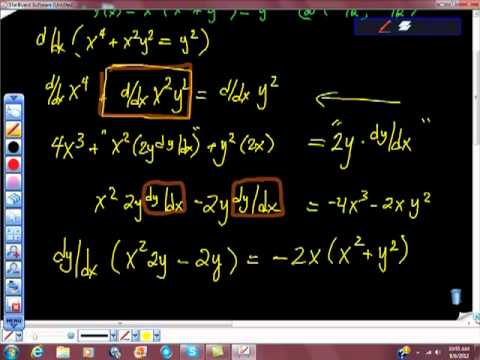AP Calculus Implicit Differentiation Find an Equation of the Line Tangent to f