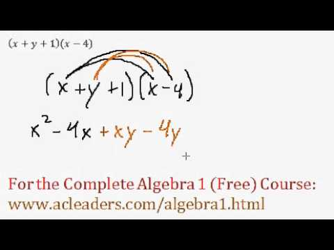 (Algebra 1) Polynomials - Distributive Property Question #7