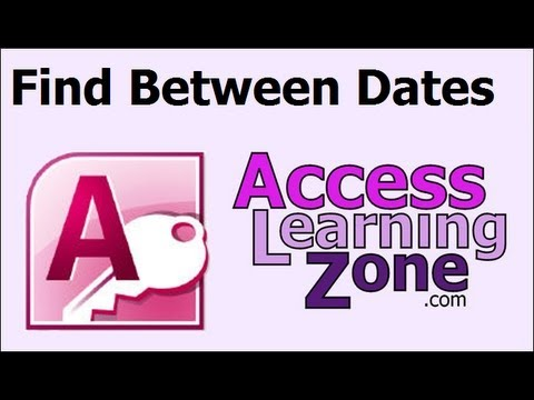 Microsoft Access Tip: Find Records Between Two Dates with Query Criteria