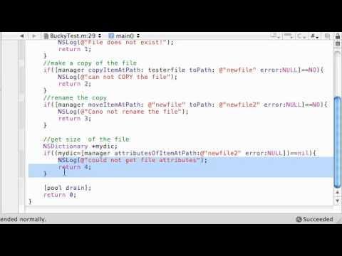 Objective C Programming Tutorial - 62 - Working with File Attributes