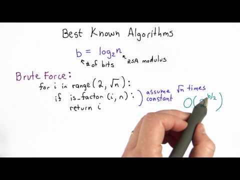 Factoring Is Still Hard - CS387 Unit 4 - Udacity