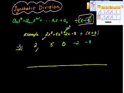 Synthetic Division One algebra precalculus