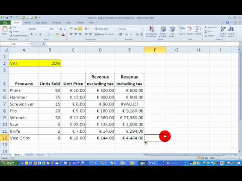 How To...Copy Formulas in Excel 2010