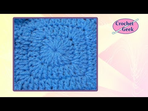 Chainless Corner Crochet Square