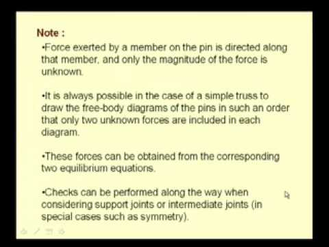 Mod-2 Lec-3 Truss Analysis Part-I