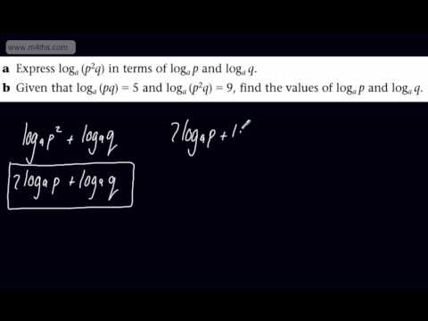 (17) C2 Logarithms Playlist -Exam question 1 - Core 2 Edexcel