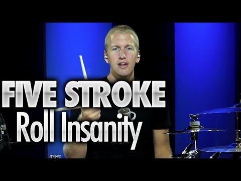 Five Stroke Roll Insanity - Drum Lessons
