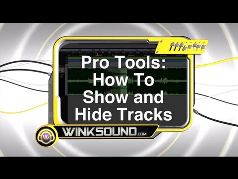 Pro Tools: How To Show and Hide Tracks
