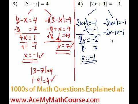 Absolute Value Equations - Question #4
