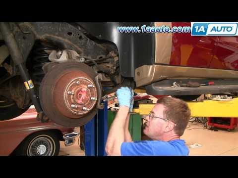 How To Install Repair Replace Rear Disc Brakes Chevy Trailblazer 02-05 1AAuto.com
