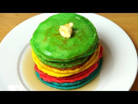 Rainbow Pancakes - RECIPE
