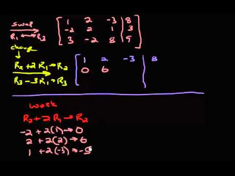 System of Equations - Row Reducing Example 3 (Part 1)