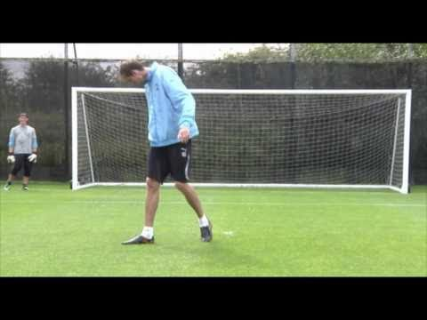 Spurs players try penalties blindfolded - London 2012