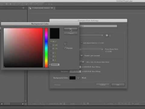 After Effects CS5.5 Create a Simple Composition - Tutorial