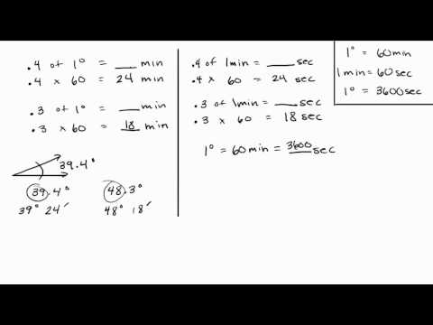 Trigonometry - Convert Decimals to Minutes and Seconds - Part 1 of 3 Intuitive Math Help