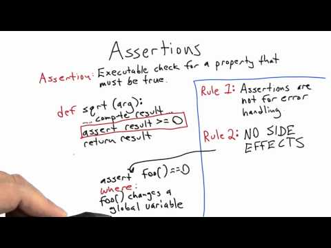 Assertions - Software Testing - Udacity