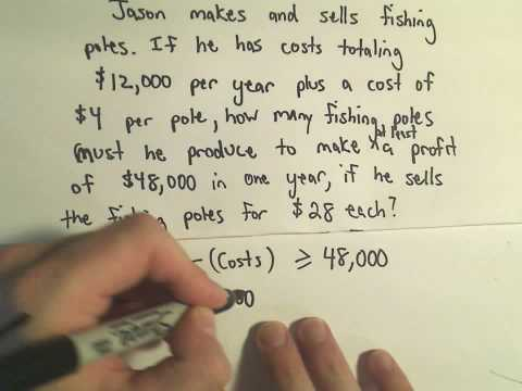 Solving Word Problems Involving Inequalities - Example 2
